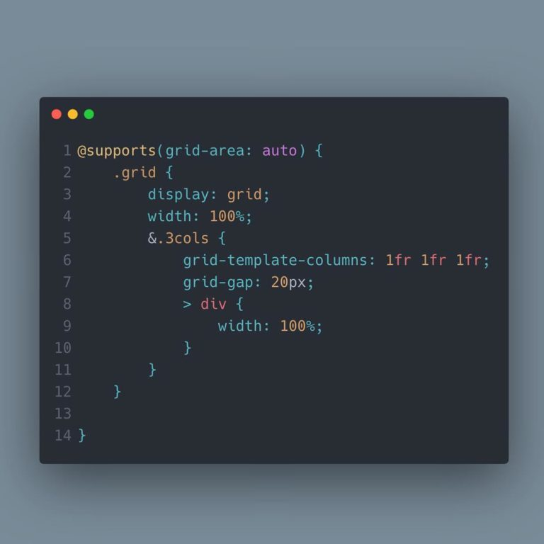 Css Grid supports